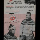Vintage 1959 Mary Maxim Sun Valley Cardigan Sweater Pullover Knitting Pattern Mens