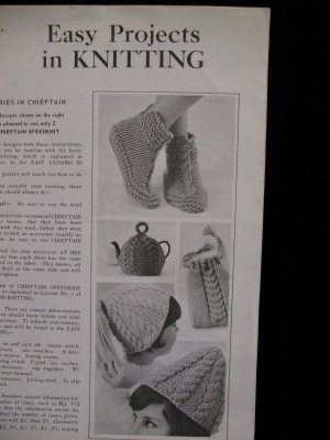 Boot Slippers Cable Toque Shoe Tote Tea Cosy Knitting Patterns