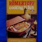 Vintage Romertopf Cooking Clay Bake Baker Cookbook 400 Recipes