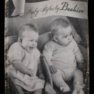 Vintage Beehive Knitting Patterns Bonnet Panties Bootees Coat Vest Mitts etc Baby up to 1 Year
