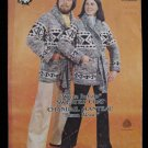 Vintage White Buffalo Canadian Sweater Coat Belt Knitting Pattern Adults