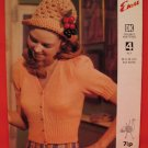 Vintage Emu Cardigan Sweater with Matching Hat Knitting Pattern Ladies