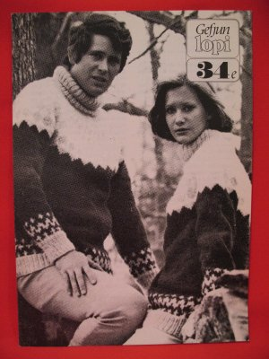 Gefjun Lopi Icelandic Iceland Pullover Sweater Knitting Pattern Adults