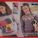 Patons Beehive Jacket Sweater Pullover Knitting Patterns Children