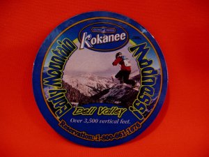Kokanee Beer Dell Valley Early Mountain Madness Coaster Fridge Magnet Souvenir
