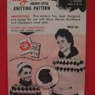 Vintage 1960 Mary Maxim Cardigan Pullover Sweater Knitting Pattern Childrens 8-12