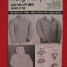 Vintage Mary Maxim Cardigan and Pullover Sweater Knitting Pattern Childrens 8- 12 Years Old