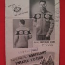 Vintage Mary Maxim Northern Stars Cardigan Sweater Knitting Pattern Adults