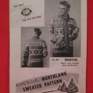 Vintage Mary Maxim Hiawatha Cardigan Sweater Knitting Pattern Adults