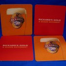 Rickards Gold Beer Coaster Canada Souvenir set of 4