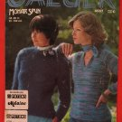 Jaeger Mohair Spun Pullover Sweater Knitting Pattern Ladies
