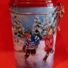 Tim Hortons Hockey Skating Pond Coffee Souvenir Tin Canister  # 3 Edition