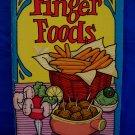 Finger Foods Cookbook Recipes Vintage Collector