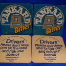 Tankard Bitter British Ale Beer Coaster Souvenir set of 4