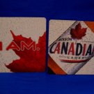 I AM Molson Canadian Lager Ale Beer Coaster Souvenir set of 2