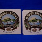 Bowen Island Brewing Company BC. Canada Lager Ale Beer Coaster Souvenir set of 2
