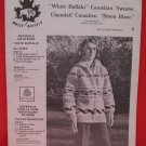 Vintage White Buffalo His or Hers Canadian Sweater Knitting Pattern Adults