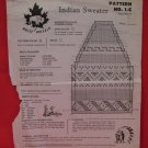Vintage White Buffalo Indian Sweater Knitting Pattern Childrens