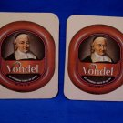 Vondel Brown Ale Belgian Beer Drink Coaster Souvenir set of 2