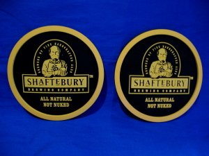 Shaftebury Brewing Company Beer Drink Coaster Souvenir set of 2