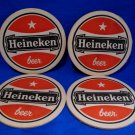 Vintage Red Heineken Lager Beer Drink Coaster Souvenir set of 4
