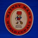 Vintage Watney Mann World Cup 1966 Special Pale Ale Beer Drink Coaster Souvenir