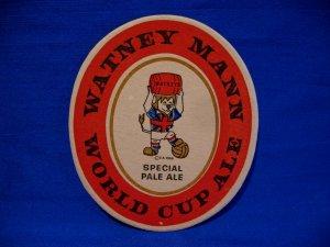 Vintage Watney Mann World Cup 1966 Special Pale Ale Beer Drink Coaster Souvenir
