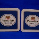 Vintage Thurn und Taxis Austrian Lager Ale Beer Drink Coaster Souvenir set of 2