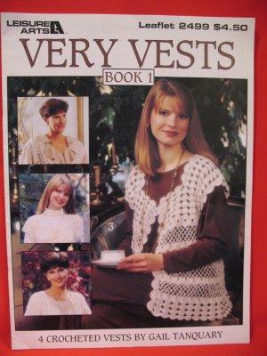 4 Vests Crocheted Crochet Pattern Adults
