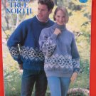 Patons True North Fair Isle Pullover Sweaters Knitting Pattern Adults