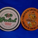 Grolsch Groet Oranje Pilsner Beer Drink Coaster Souvenir set of 2
