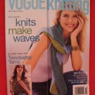 Vogue Knitting Pattern Magazine Bikini Beaded Top Tank Top Pullover etc