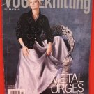 Vogue Knitting Pattern Magazine Metal Urges Laced Corset Cardigans Sweaters etc
