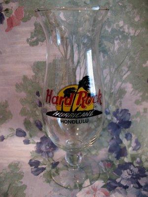 Hard Rock Cafe Honolulu Hawaii Hurricane Glass Souvenir