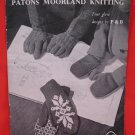 Vintage Patons Moorland Knitting Patterns Gloves Mittens Mitts Children Sizes