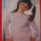 Vintage Patons Slash Neck Knitting Patterns Children Sizes 20 - 30 Inches