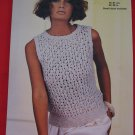 Vintage Jaeger Lace Lacy Sleeveless Sweater Top Knitting Pattern Ladies Sizes 30 - 38
