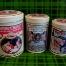 Vintage Watkins Canister Tins Set of 3 Collector 1868 - 1993 Heritage Edition