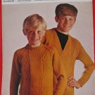 Vintage Spinrite Yarns Crew Neck Sweater V Neck Knitting Pattern Children Sizes 28 - 34 Inches