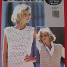 Jaeger Vintage 1984 Lacy Waistcoat and Slipover Sweater Knitting Pattern Ladies Sizes 32 - 40