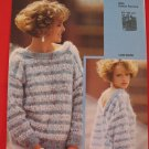 Jaeger Vintage 1984 Scoop Back Sweater Knitting Pattern Ladies Sizes 32 - 40