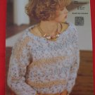 Jaeger Vintage Textured Boat Neck Sweater Knitting Pattern Ladies Sizes 30 - 38