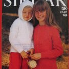 Sirdar Cardigan Sweater Hood Knitting Pattern Children Sizes 22 - 30 Inches
