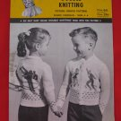 Mary Maxim Double Knitting Cardigan Skaters Skating Sweaters Knitting Pattern Children Sizes 4 - 6