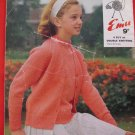 Vintage Emu 4 Ply or Double Knitting Pattern Girls Jumper and Cardigan Sweater Sizes 26 - 36 Inches