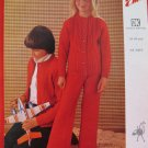 Vintage Emu Double Knitting Pattern Childrens Cardigan Sweater Trousers Sizes 24 - 34 Inches