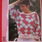 "Patons Ladys Geometric Sweater Knitting Pattern Ladies Sizes 32"" - 38"""