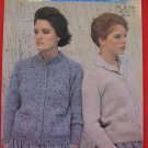 "Patons Moorland Shetland and Tweed Chunky Cardigan Sweater Knitting Pattern Adults Sizes 32"" - 40"""