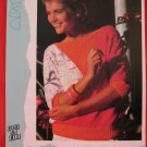 "Patons Lady's Colour Blocked Dolman Sweater Vintage Knitting Patterns Ladies Sizes 32"" - 38"""