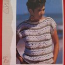 "Patons Lady's Mixed Textures Sweater Vintage Knitting Patterns Ladies Sizes 32"" - 38"""